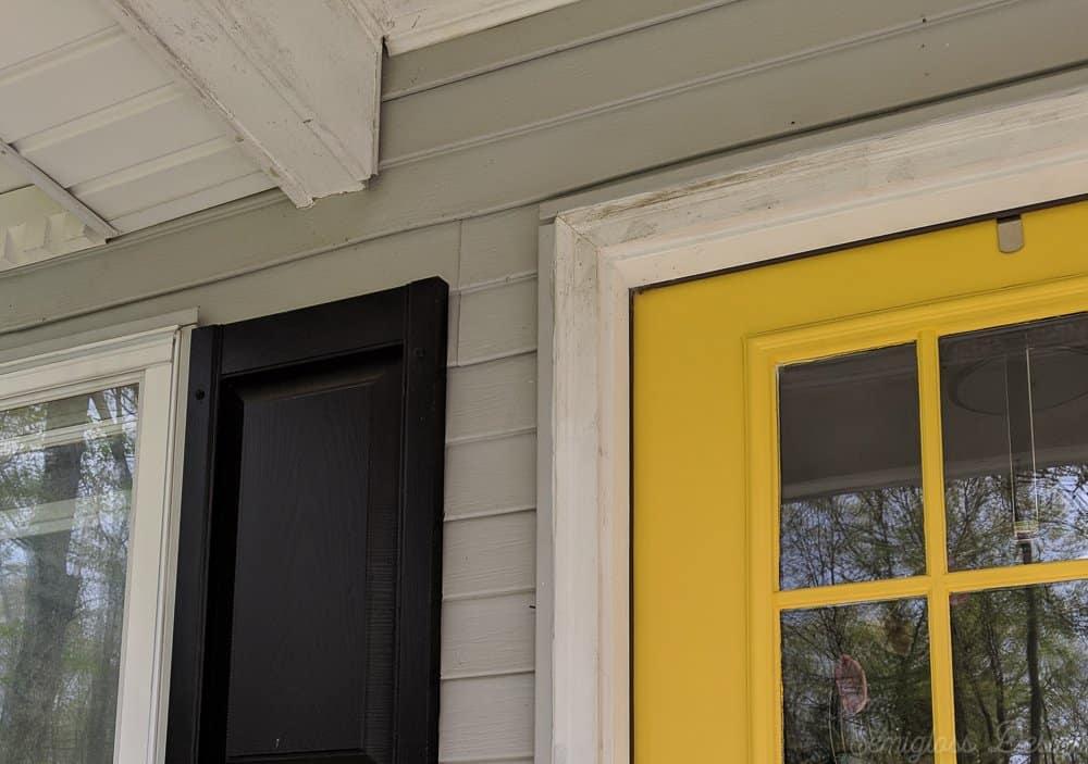 front door trim before