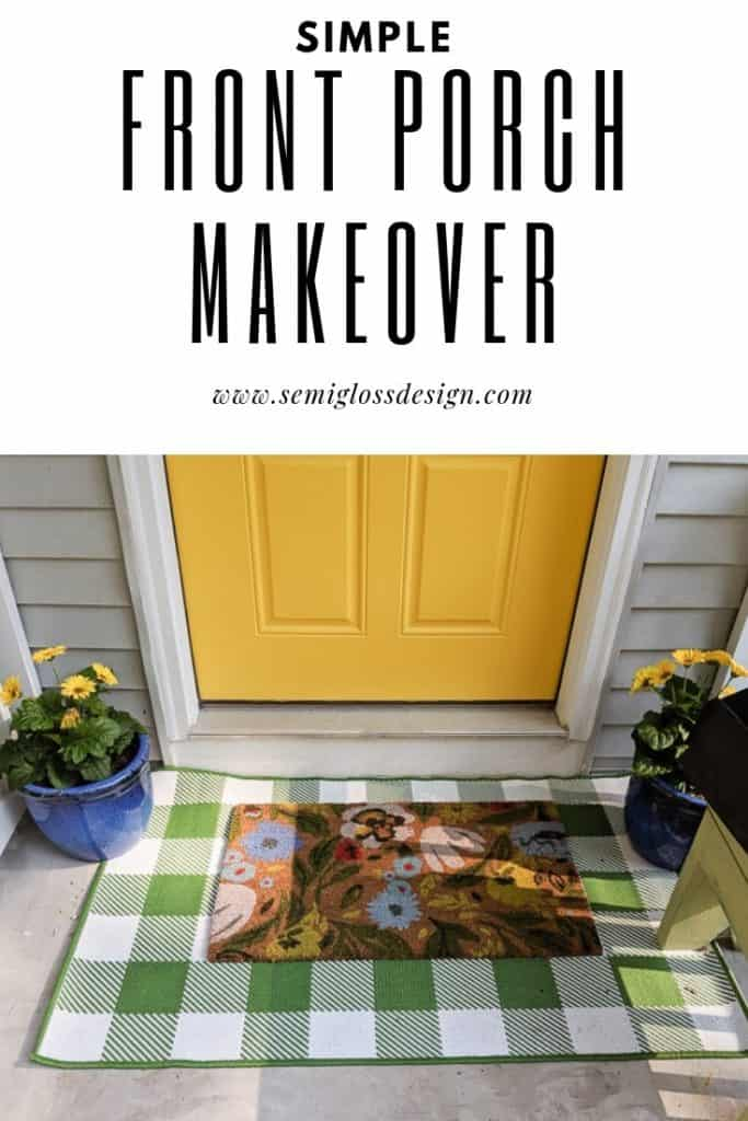 porch makeover for improved curb appeal