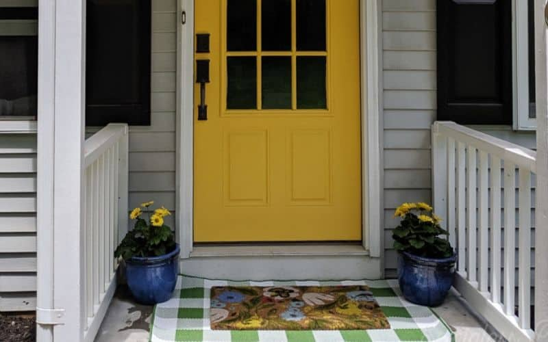 porch makeover on a budget
