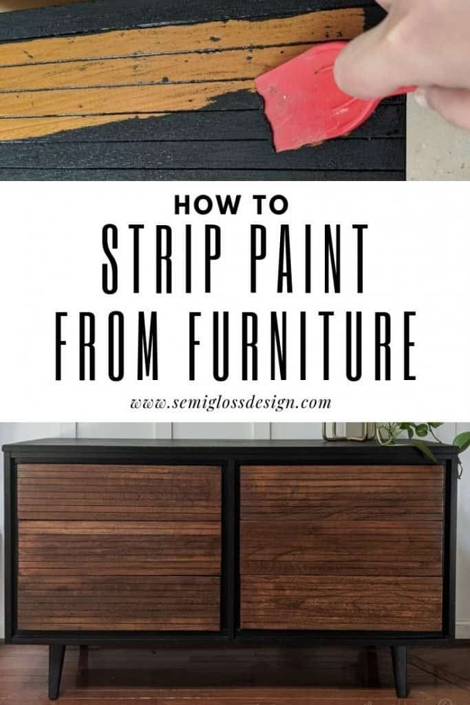 stripping furniture using citristrip on a mcm dresser