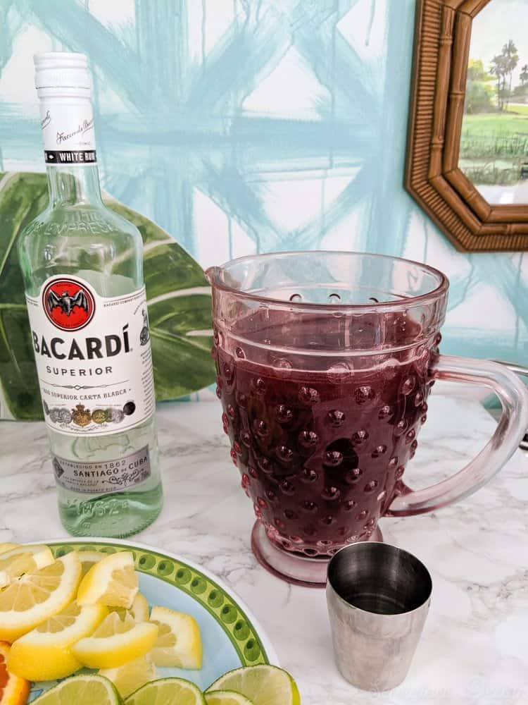 optional rum in sangria