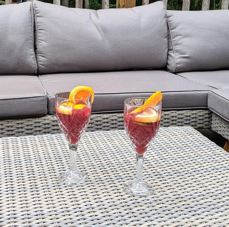 sangria on patio