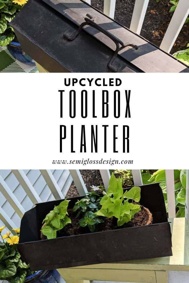 upcycled toolbox planter