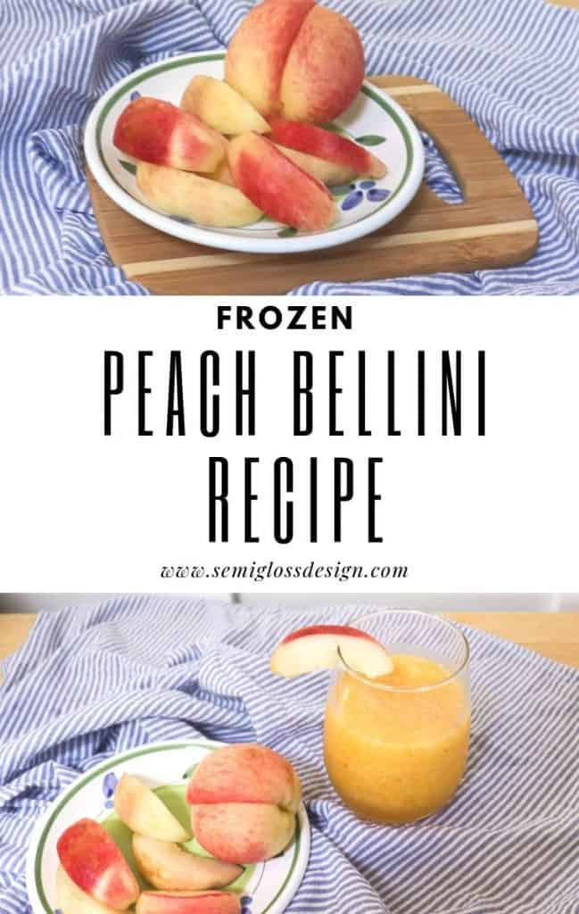 frozen peach bellini recipe
