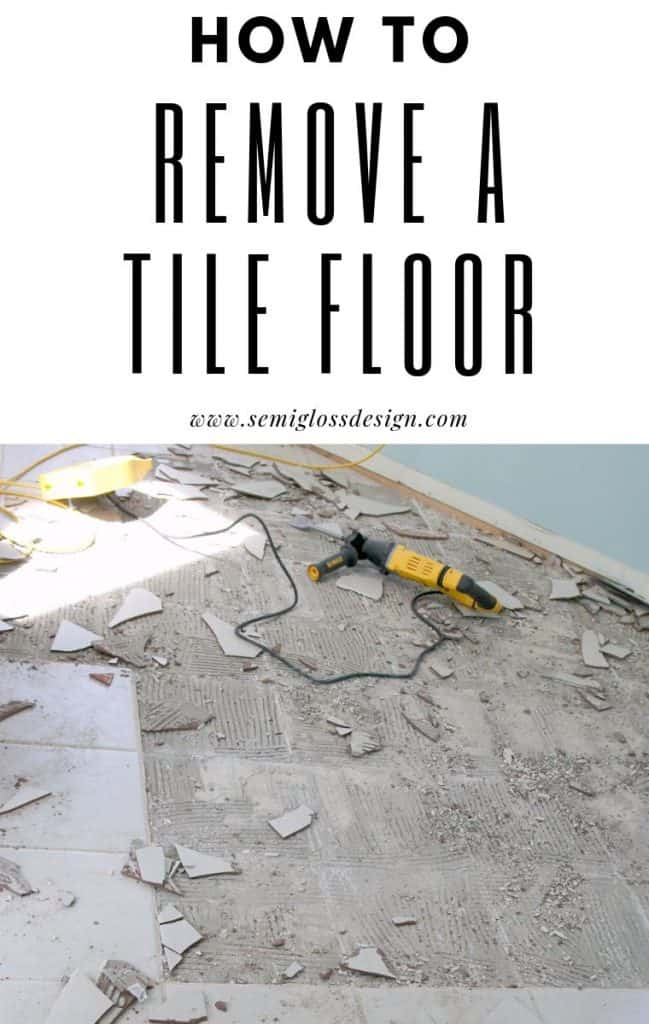 ceramic tile removal and clean up