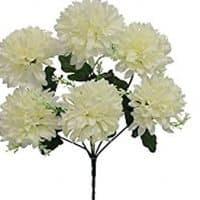 Mum Bush Silk Wedding Flowers Centerpiece Home Party Decor 6 Mums (Cream)
