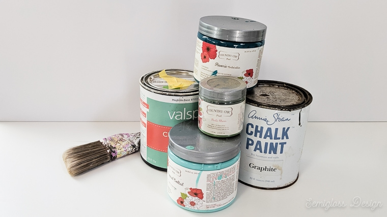 chalk paint cans