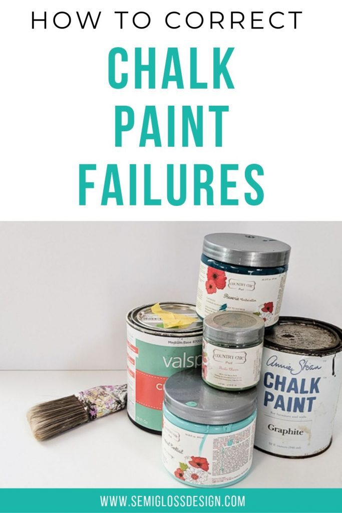 fix chalk paint failures