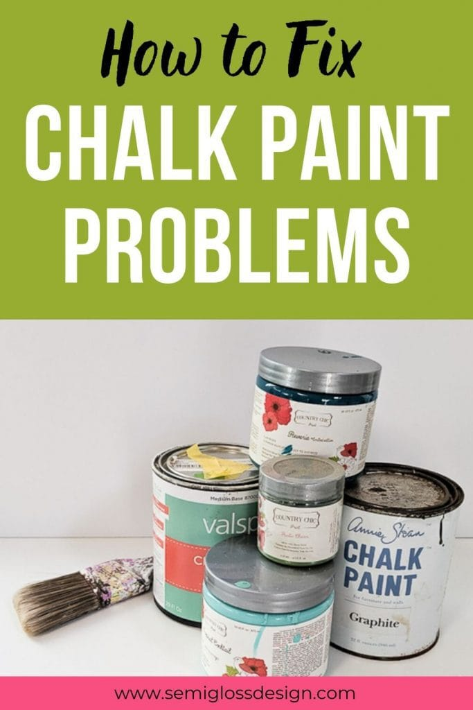 how to fix chalk paint problems