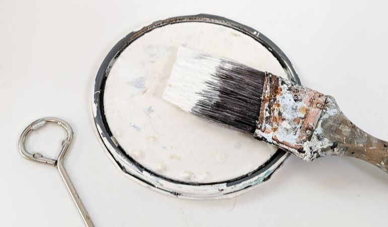 dried paint brush