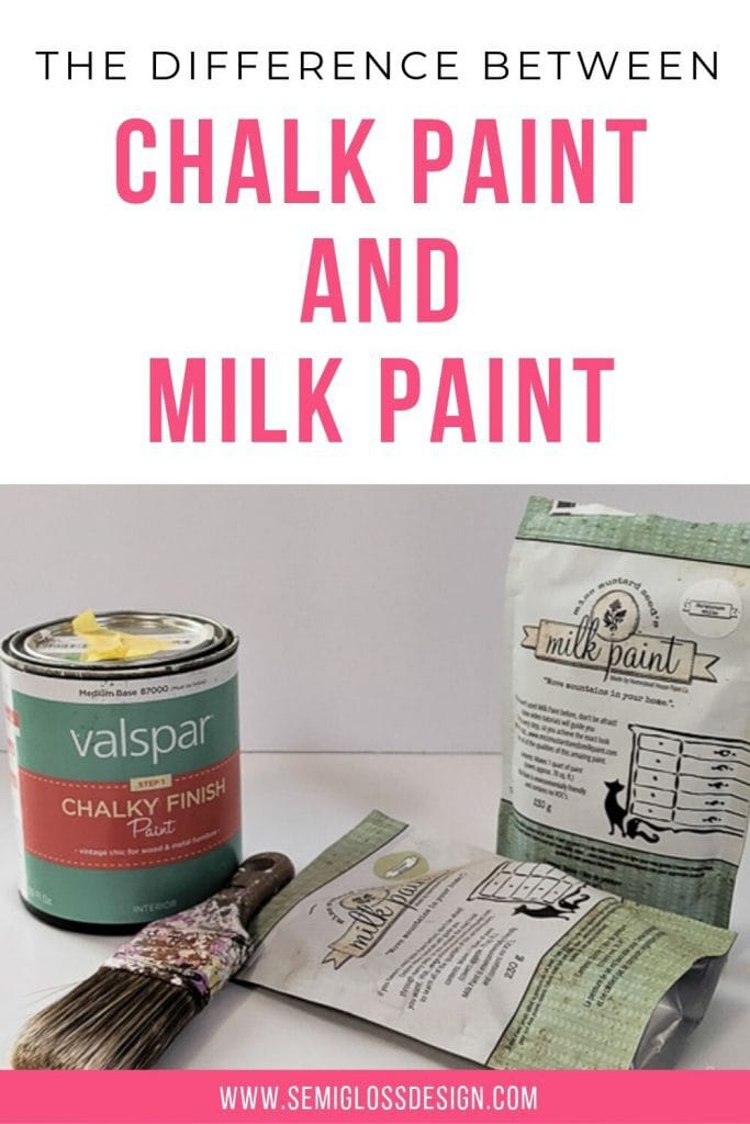 difference between chalk paint and milk paint