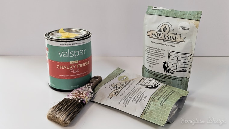 milk paint and chalk paint