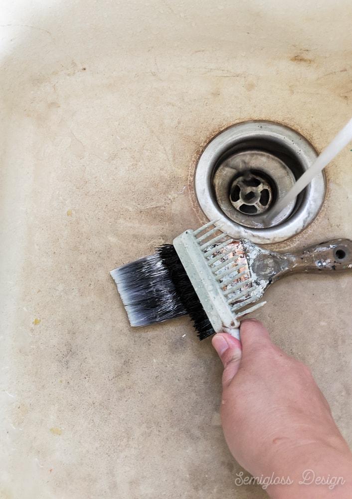 scrub paint brush