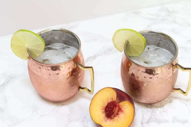 icy moscow mules in copper mugs