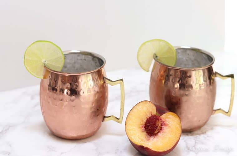 the best peach moscow mule