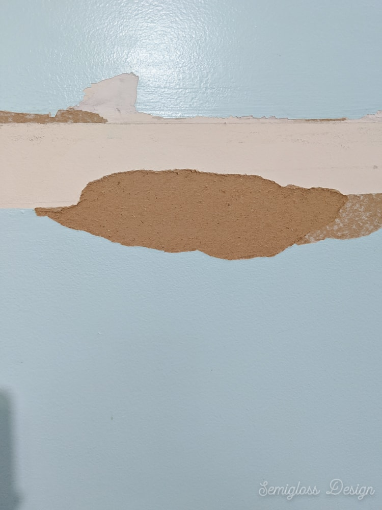 damage on wall from removing chair rail
