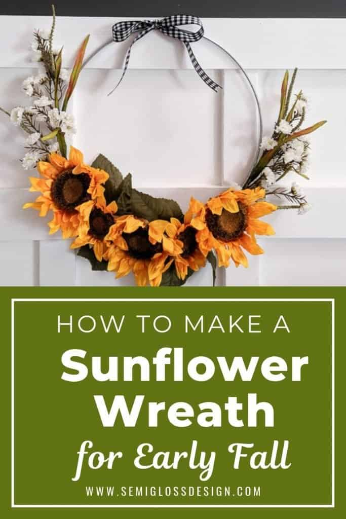 sunflower wreath for early fall