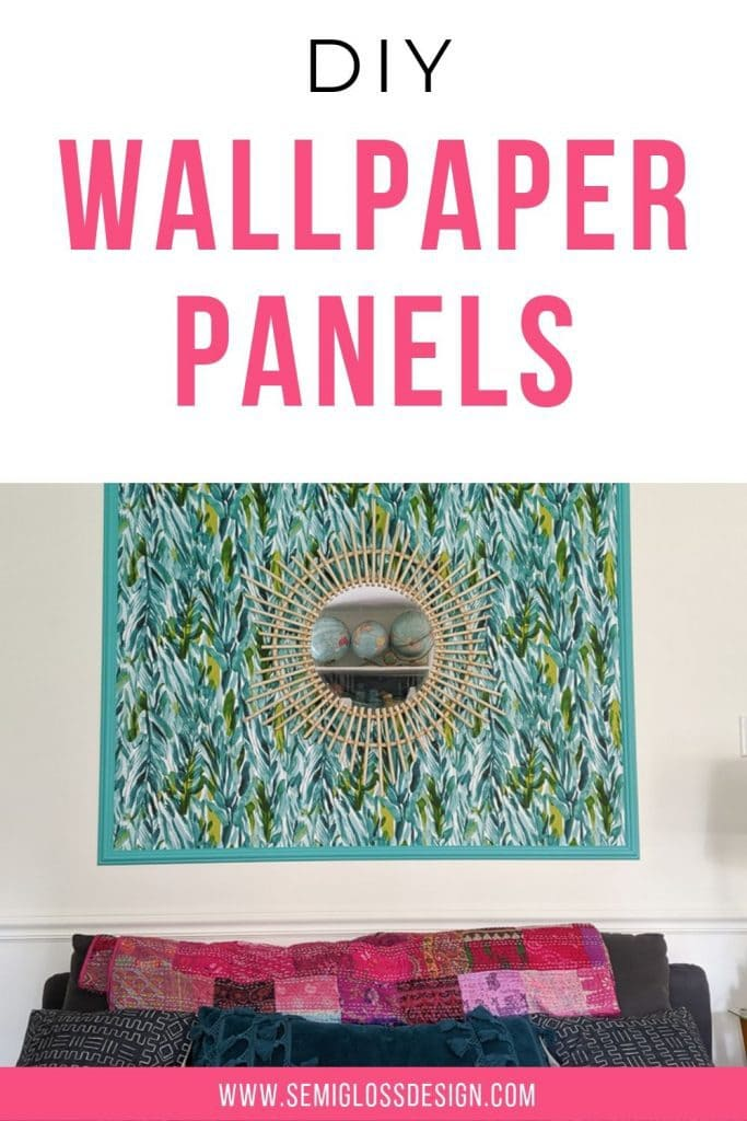 DIY wallpaper panels