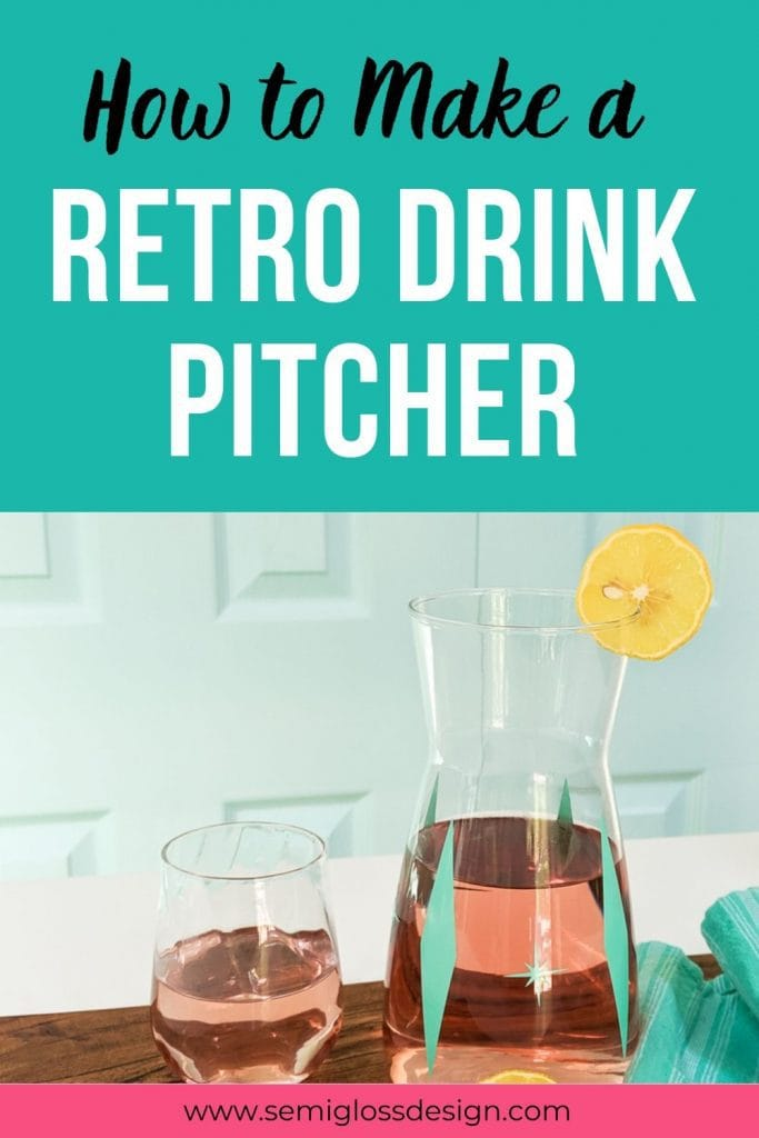 how to make a retro drink pitcher