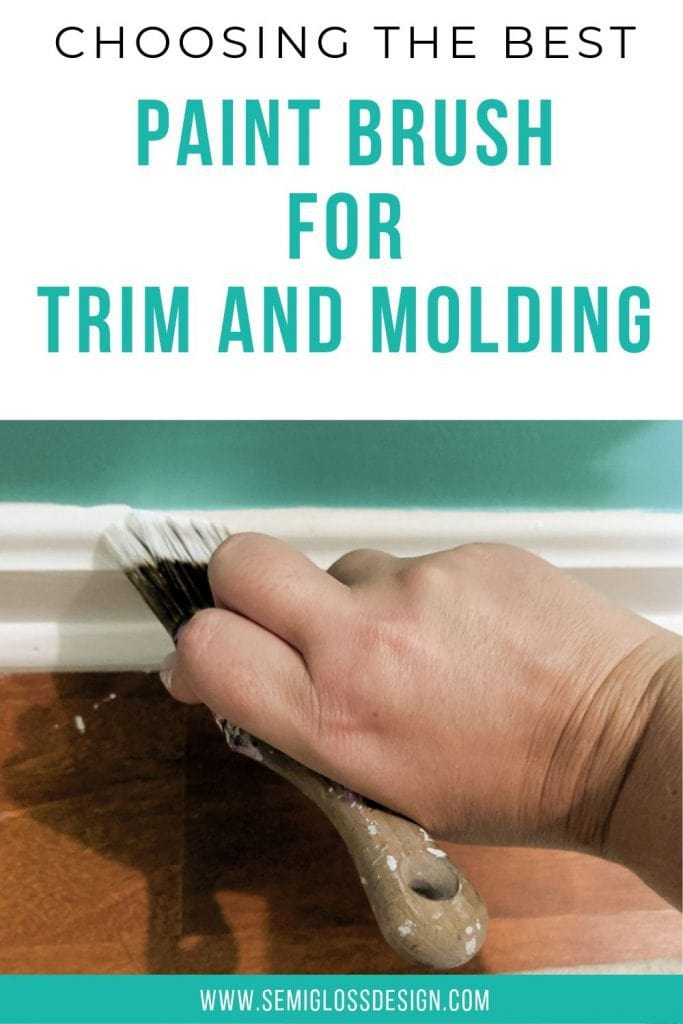 pin image - choosing the best paint brush for trim