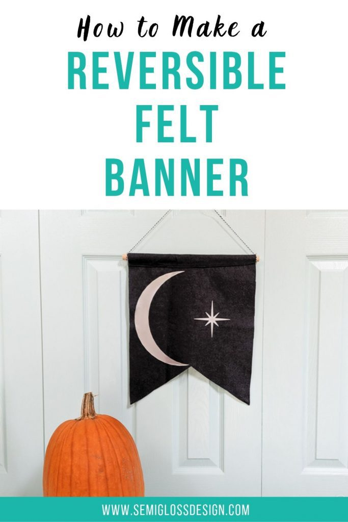 how to make a reversible felt banner
