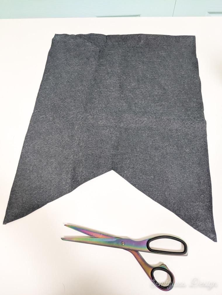 flag shape cut from felt