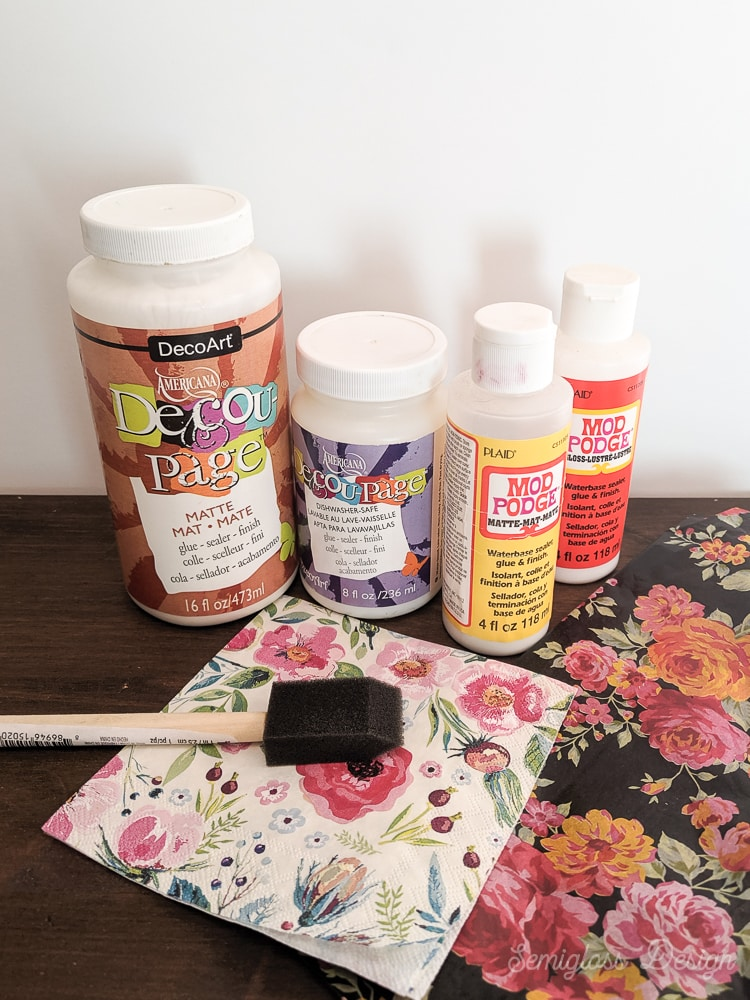 decoupage glues