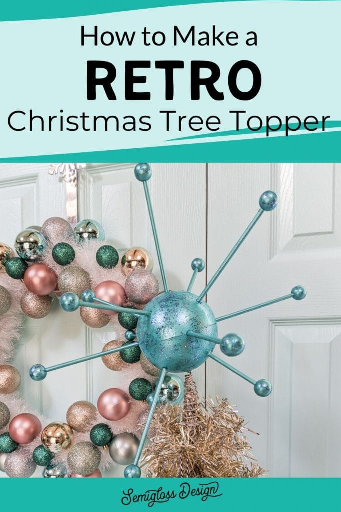 atomic tree topper DIY for Christmas