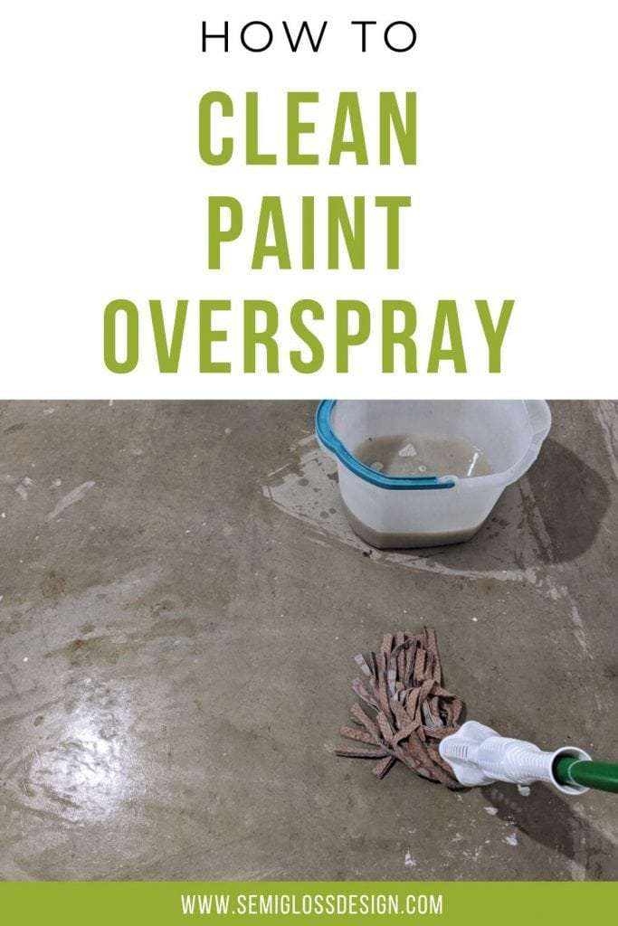 how to clean paint overspray