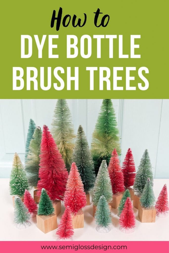 Dye bottle brush trees