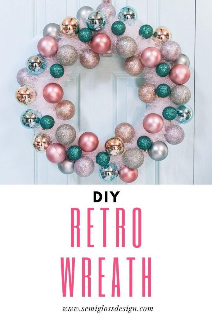 DIY retro Christmas wreath