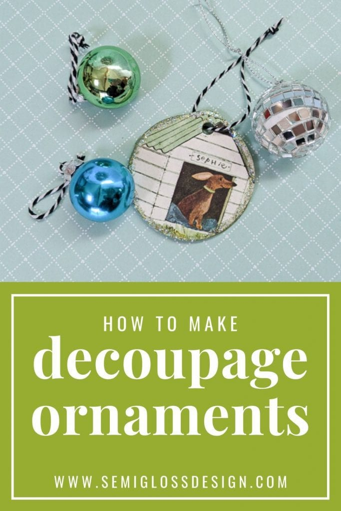 decoupage ornaments collage image