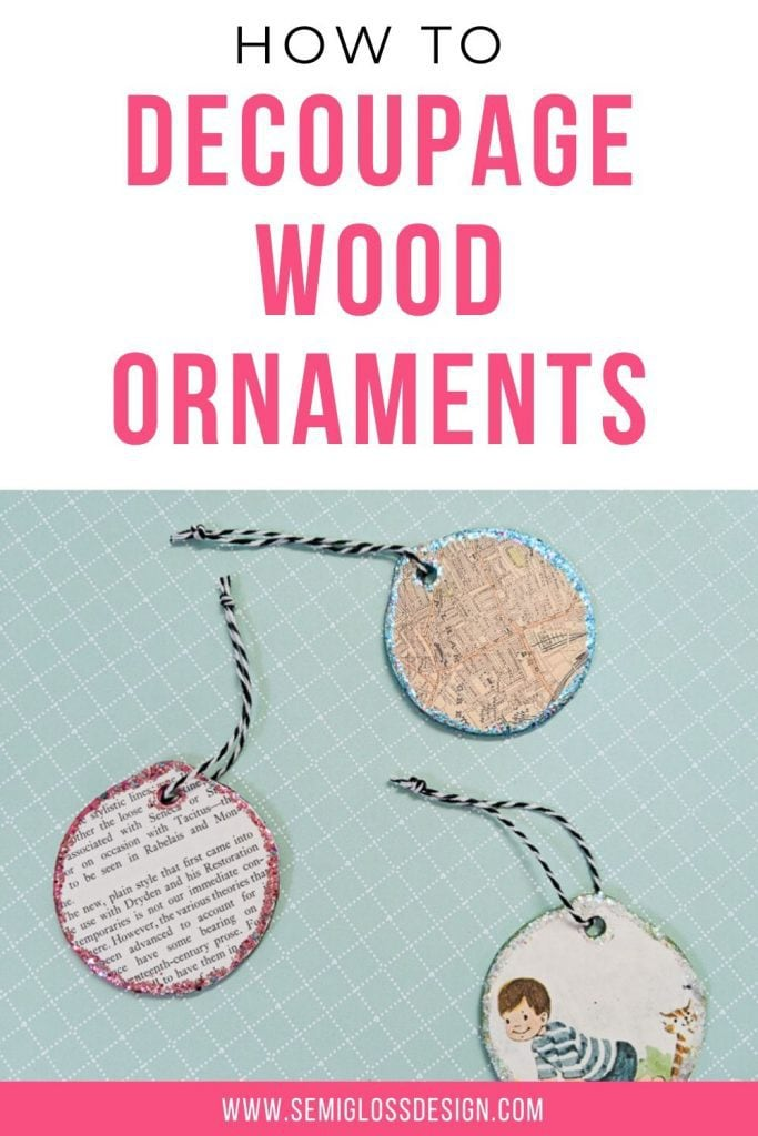 how to decoupage wood ornaments