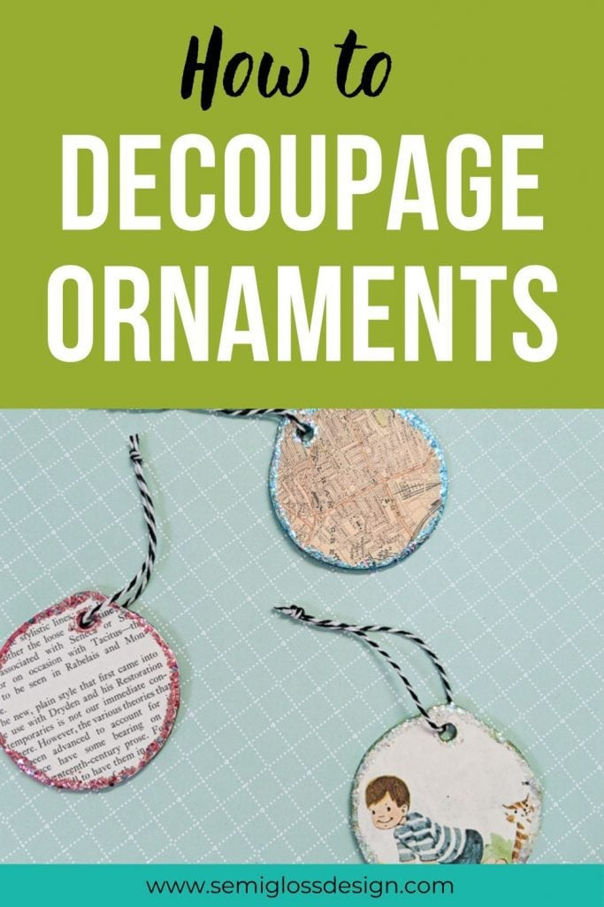 decoupage ornamnents collage
