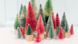 How to Make DIY Bottle Brush Trees