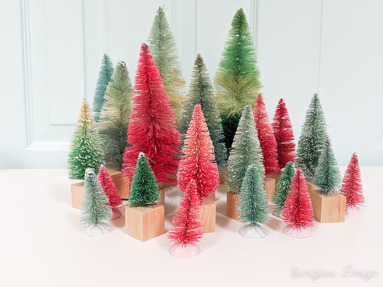 DIY bottle brush trees