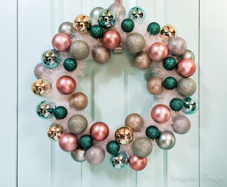 ornament wreath for Christmas