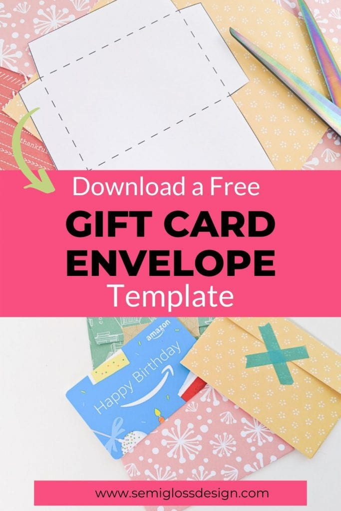 gift card envelope template to print collage