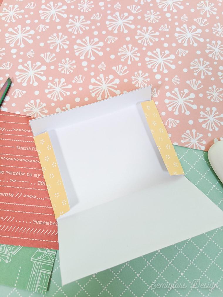 folding gift card envelope