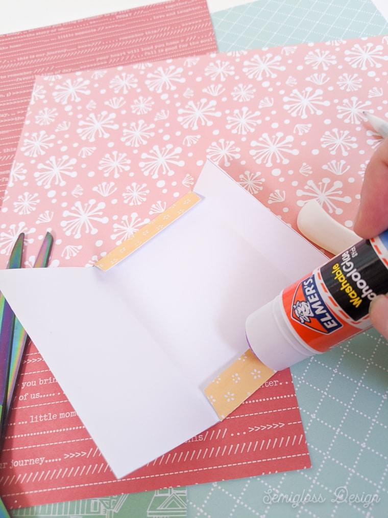 gluing sides of envelope