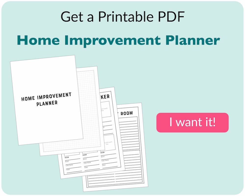 home improvement planner and pink buy button