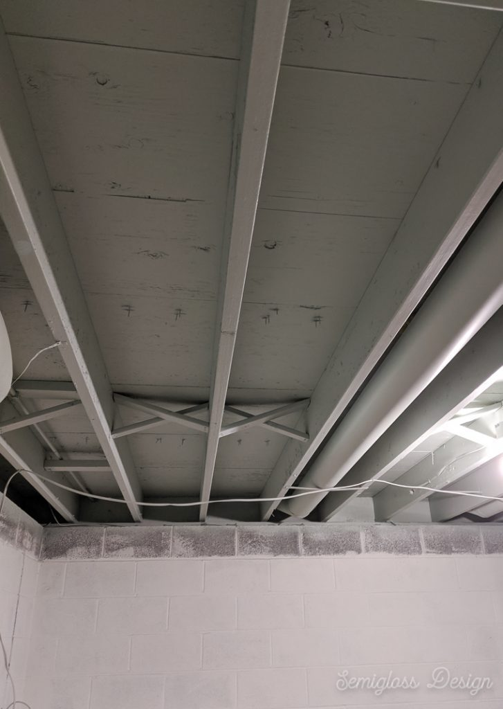 How To Paint An Unfinished Basement Ceiling Semigloss Design