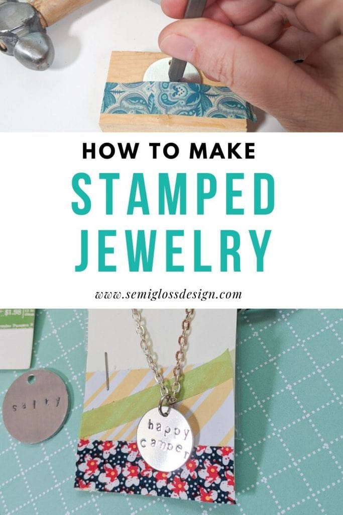 how to stamp metal jewelry collage