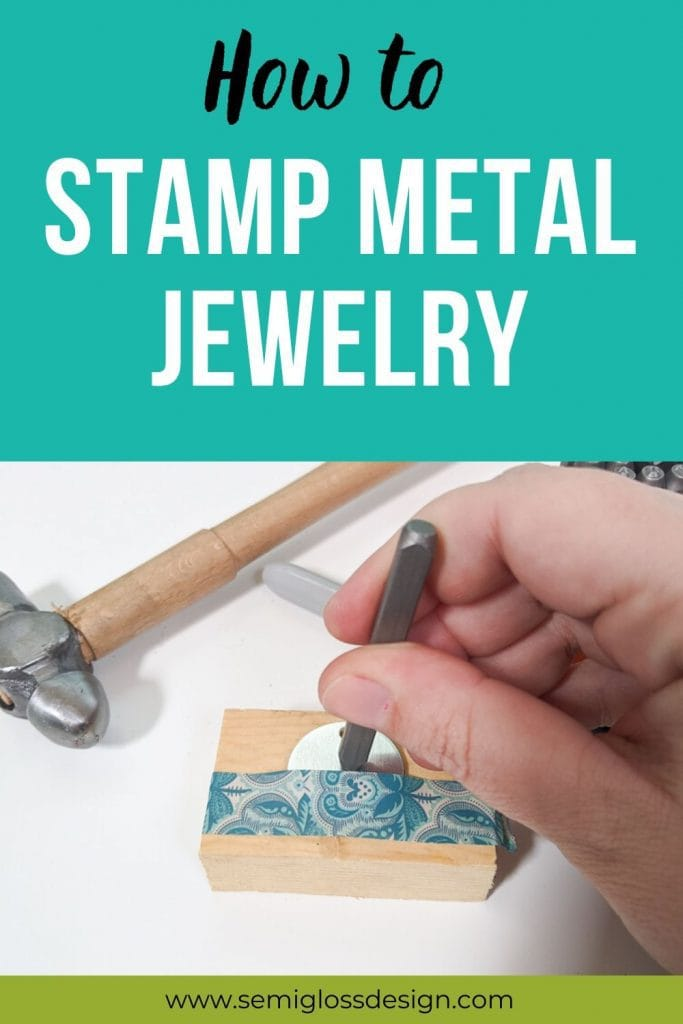 stamp metal jewelry collage