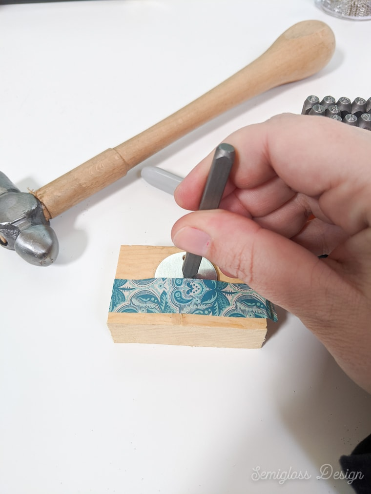 start stamping in middle of blank