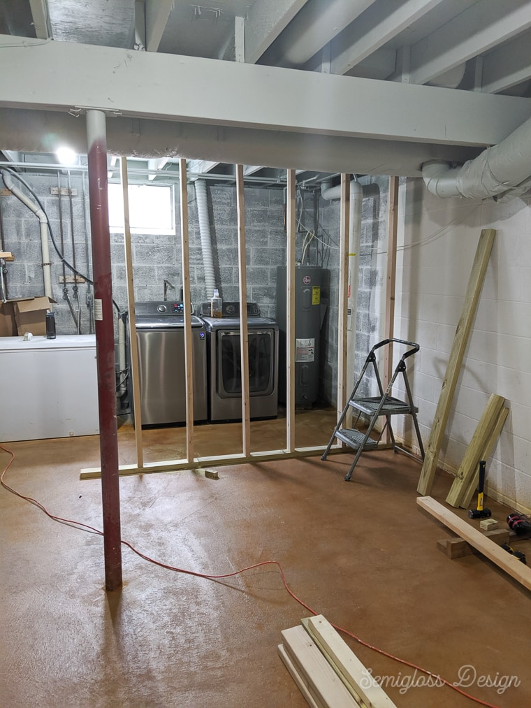 framing walls in basement