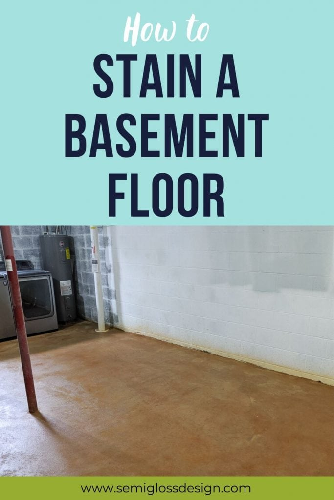how to stain a basement floor