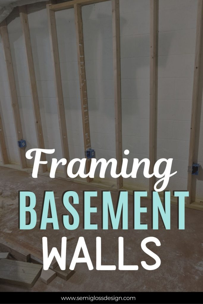 framing basement walls collage