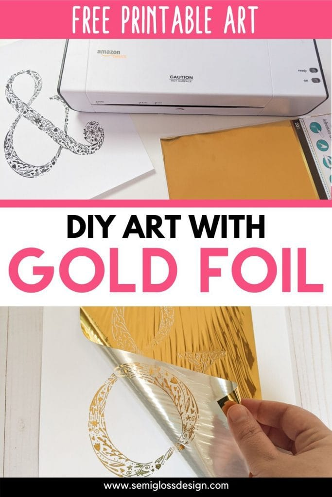 diy art with gold foil