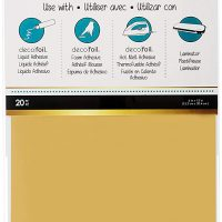 iCraft Deco Foil Transfer Sheets, Gold, 20 Piece